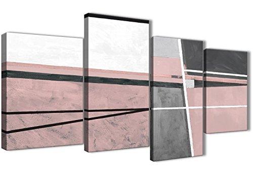 Wallfillers Fine Décor 4393-130 - Lienzo Decorativo para Pared (tamaño Grande), diseño Abstracto, Color Rosa y Gris
