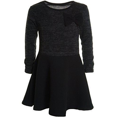 ze Winter Kleid Peticoatkleid Festkleid Kurz Arm Kostüm 20581, Farbe:Schwarz;Größe:104 (Armee-kostüm Für Mädchen)