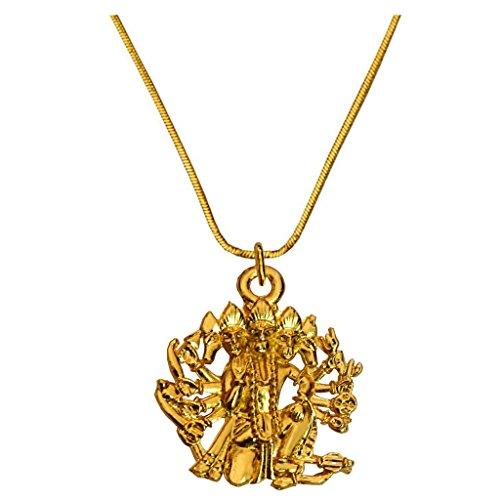 Rich & Famous Gold Toned Panchmukhi Hanuman Pendant