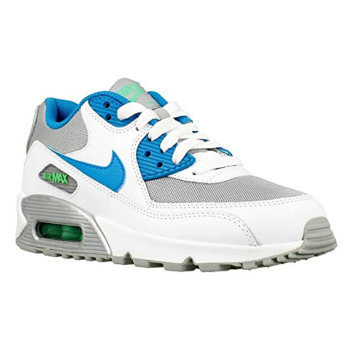 watch e10c2 4e335 Nike Mädchen Air Max 90 Mesh (Gs) Laufschuhe, Blau Blanco / Azul /