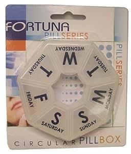 Fortuna Clear Circular Pill Box