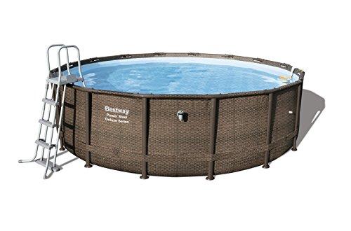 Bestway Power Steel DELUXE SERIES Pool Set 488x122cm, Stahlrahmenpool-Set mit Filterpumpe und Zubehör