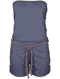Stitch & Soul Damen Bandeau Jumpsuit | Kurzer Overall | Sexy Einteiler aus bequemen Jersey Material