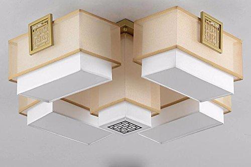 LighSCH Deckenleuchten Modernes minimalistisches Bügeleisen Tuch Bronze 55 * 55 * 31cm Schlafzimmer Lampe Lampen