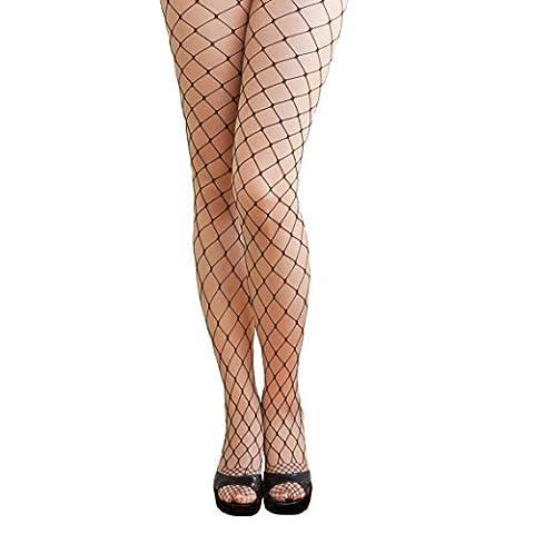 Oblique-Unique® Sexy Schwarze Netz Strumpfhose - grobe Maschen (Erwachsen Netzstrumpfhose)