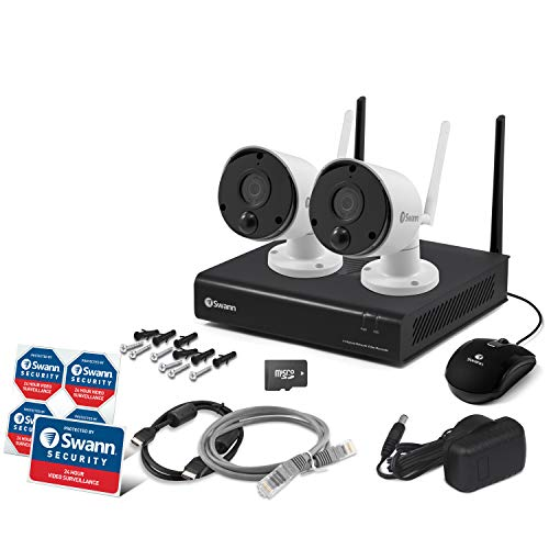 Swann 4 Channel Wi-Fi Security System: NVW-490 NVR + 2 x Wi-Fi Thermal  Sensing Cameras