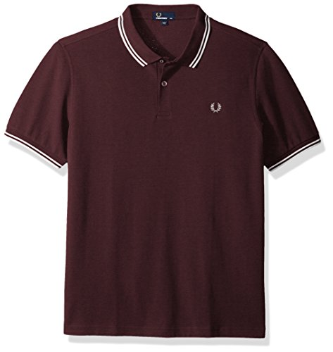 Fred Perry Herren Poloshirt Fp Twin Tipped, Viola (Bramble), Large (Polo-shirt Sleeve Pique)