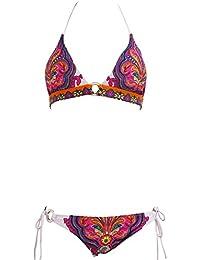 Amurleopard 2 piece Maillot de bain bikini triangle boheme halter push up sexy