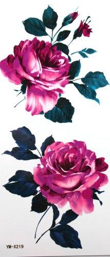 yimei-waterproof-tattoo-sticker-blossoming-red-rose-flowers-tatuajes-temporales