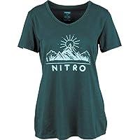 Nitro Snowboards Wmns Aaran tee Camiseta, Mujer, Emerald, S