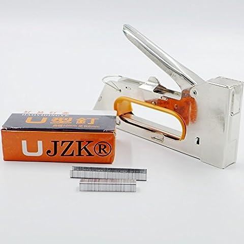 JZK ® Schwer Pflicht Hefter Heftklammern Nagler 4/6 / 8mm mit 2160pcs Heftklammern für Polster, (Polster Hefter)