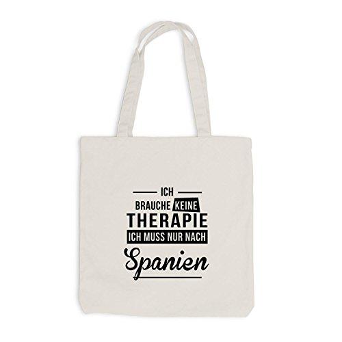 Borsa Di Juta - Non Ho Bisogno Di Terapia Spagna - Terapia Spagna Beige