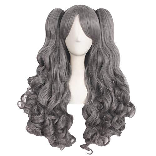 Cosplay Perücken Rosa, Schwarz, Braun, Blau, Weiß 15 Farbe2 Ponytails Form Hitze Synthetic Haar, P1B / ()