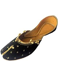 Step n Style Sherwani zapatos hecho a mano tradicional Khussa JUTTI Rajasthani Mojari, color Blanco, talla 41.5