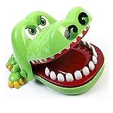 HUKITECH Krokodil Spiel Crocodile Dentist KAYMAN Geschicklichkeitsspiel Kroko Doc Aktionsspiel Partyspiel Gesellschaftsspiel Zahnarzt Dog Reflex Game - Familienspiel mit hohem Spaßfaktor