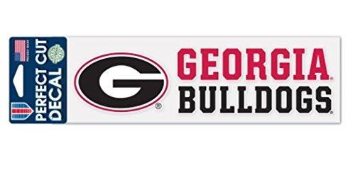 Wincraft Snack-Schale NCAA Universität von Georgia Bulldogs 7,6x 25,4cm perfekten Schnitt Aufkleber (Souvenirs Aus Georgien)