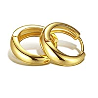 Women's earrings in the shape of a gold ring
