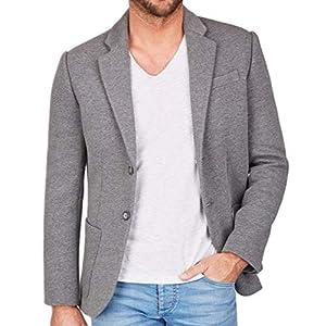 Centered Sakko Herren modern und sportlich - als Casual Jacket oder Blazer (Grau)