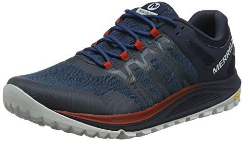 Merrell Nova Gore-Tex, Zapatillas de Running para Asfalto para Hombre, Azul Sailor, 43 EU