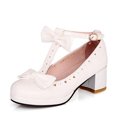 shoes Gattino Balamasa Pompe Anello Flessibile Dt Materiale Donna tacchi Bianco wx5qP6F58
