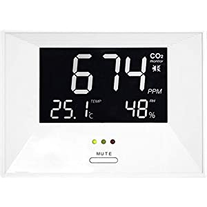 """TFA Dostmann CO2-Messgerät """"Air CO2ntrol Life"""" mit Thermo-/Hygrometer weiss"""