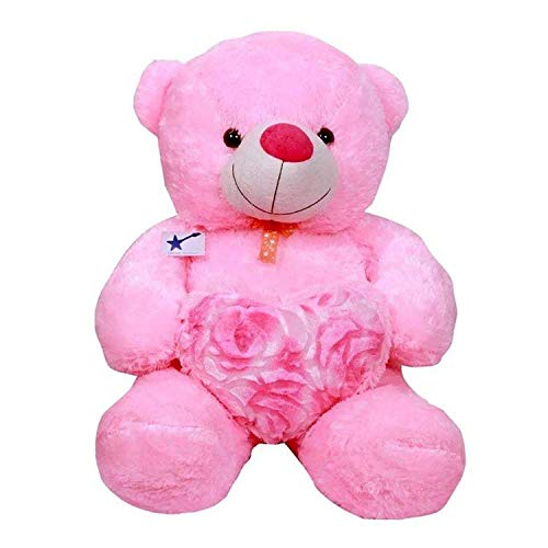 Emutz Very Soft 2 Feet Lovable/Huggable Teddy Bear with Neck Bow for Girlfriend Gift/Boy/Girl ,Pink (Colors Pink, Large)