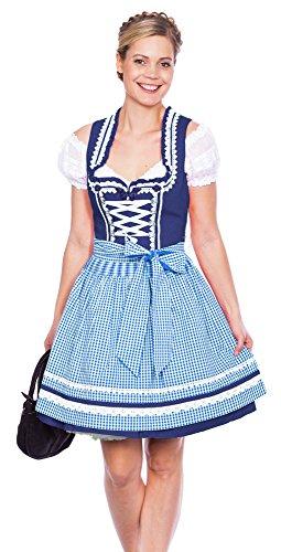 Krüger MADL Dirndl Miracle - Blau Weiß 50cm Blau/Weiß