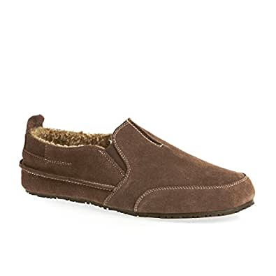 Clarks Men's Slip-On Slippers Kite Laser Brown Suede