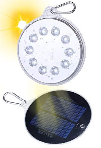 Idealife LED Solarlampen Solarleuchte - Wasserdicht Solarlicht Solar Lampe mit Magnet Tragbares Solarlampen für Außen Innen Camping