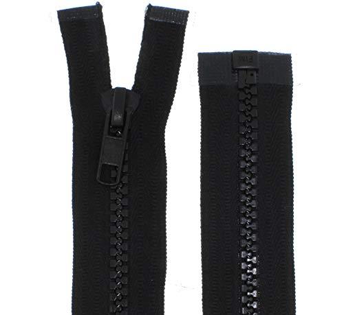 zipworld Reißverschluss Kunststoff Zähne 5mm Reißverschlüsse für Zelt,Planen, Outdoor usw. (schwarz - 322, 150cm)