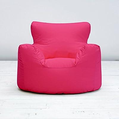 Childrens Kids Fuchsia Pink Cotton Small Chair Seat Beanbag Bean Bag Filled - low-cost UK light shop.