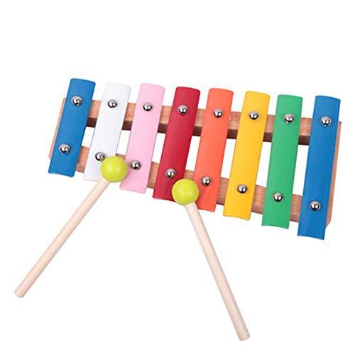 WHSS Xilofono educativo per Bambini Mano a Otto Toni Che bussa al Pianoforte per Bambini Giocattoli Musicali per Bambini