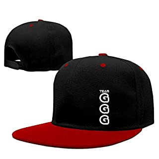 524ceca0 Fashion Adult Cotton Hip Hop Gennady Golovkin GGG Logo Adjustable Plain Hat  Contrast Color Red