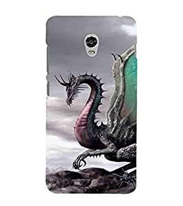 For Lenovo Vibe P1 :: Lenovo Vibe P1 Turbo :: Lenovo Vibe P1 Pro Cartoon, Black, Cartoon and Animation, Dragon, Printed Designer Back Case Cover By CHAPLOOS