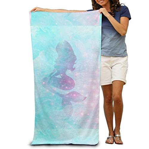 Annays Personalized 31.5X51.2inches/80X130cm Beach Towels Little Mermaid Princess Absorbent Microfiber Drying Bath Pool Shower Towel (Mermaid Die Abdeckung Little)