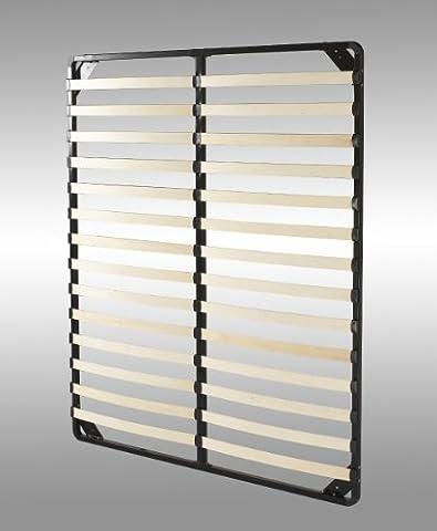 i-flair® - Lattenrost 160x200 cm, Lattenrahmen mit stabilem Stahlrahmen - ALLE GRÖßEN