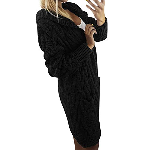 ITISME FRAUEN BLUSE Frauen Langarm Übergroße lose Strickjacke Strickjacke Outwear Mantel