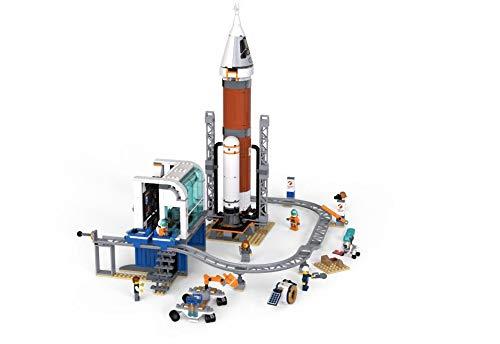LEGO City Space 60228 Raketen Launch Station mit Space Center (837 Teile)