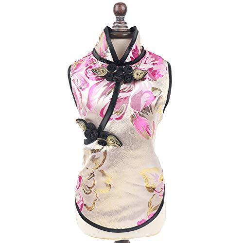 Kostüm Hydrant - Haustiere Kostüm Klassische Eleganz Chinesischen Stil Mit Schöne Und Zarte Blumenmuster Dekoration T-Shirt Kleidung