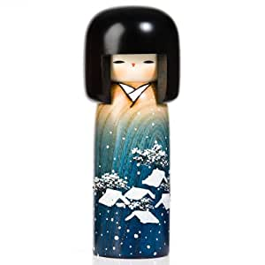 Snow Girl Japanese Wooden Kokeshi Doll