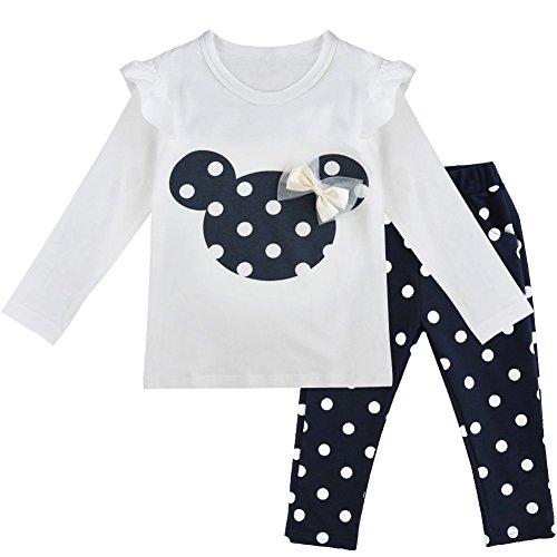 IEFIEL Conjuntos Top Pantalones Largas Niña Bebé