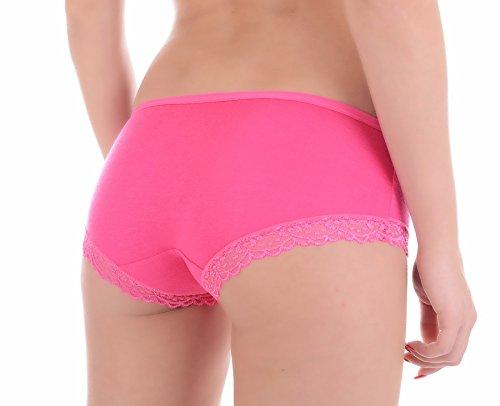 Bikinis Schlüpfer Unterhose Tanga Unterwäsche Slip Hüfthose Hot Pink