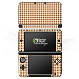 Nintendo 3 DS XL Case Skin Sticker aus Vinyl-Folie Aufkleber Karo Picknick Decke