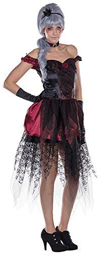 Dark Princess Kostüm - Dark Princess Kostüm mit Rosenmuster für Damen