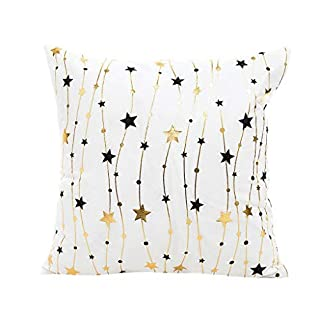 Amcool Frohe Weihnachten Dekorative Throw Pillow Covers Goldfolie Druck Kissenbezug