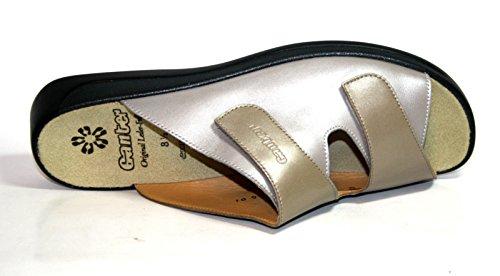 Ganter Monica 202501, Damen Pantoletten, Weite G muskat/pearl