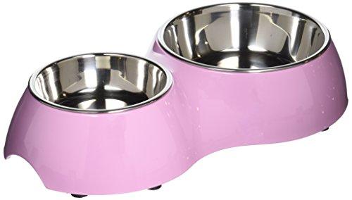 Artikelbild: Dogit Metallnäpfe im Doppelnapf in pink 400 ml