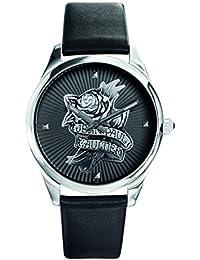 Reloj mujer JEAN PAUL GAULTIER–Navy Tatoo–Pulsera Piel Negro–37mm–8502412