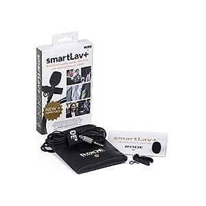 Rode smartLav+ Microfono Lavalier con Filtro Anti-pop, Resistente all'Acqua per Smartphone e Tablet, Nero