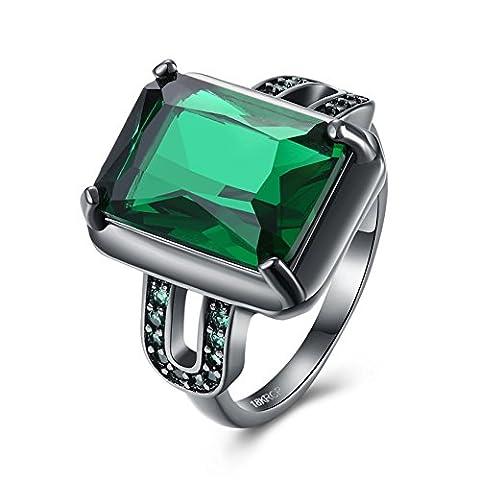 Bague Diamant Collier U Bague Vert De l'Éternité Promesse Bague Remplie